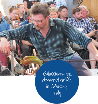 Glassblowing demonstration in Murano, Italy