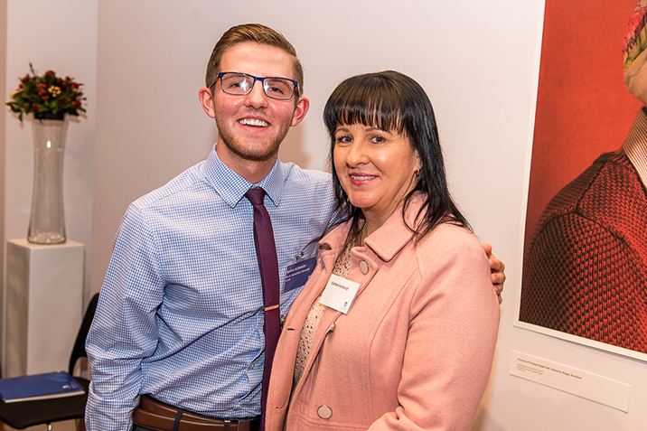Joshua and his mum at a donor thank you event