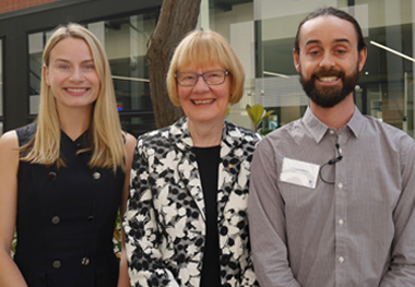 From left: Dr Tasha Stanton, Professor Ruth Grant and Dr Daniel Harvie
