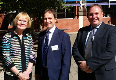 From left: Professor Andrew Beer, Professor Ruth Grant and Professor Wendy Lacey