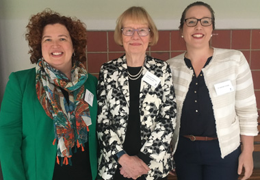 From left: Associate Professor Siobhan Banks, Emeritus Professor Ruth Grant and Dr Hannah Keage