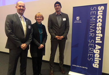From left: Professor Stuart Pitson, Professor Ruth Grant and Professor Peter Hoffmann