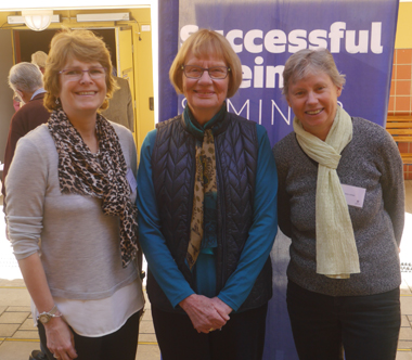 From left:Associate Professor Gaynor Parfitt, Emeritus Professor Ruth Grant and Dr Sara Jones